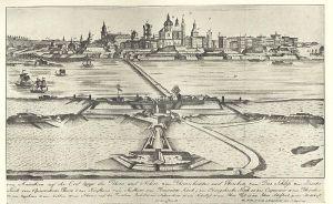 Die Mannheimer Rheinschanze 1750