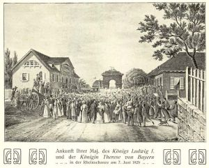 Die Rheinschanze 1829